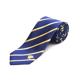 Versace Men's Medusa Head Slim Silk Neck Tie Navy/Gold