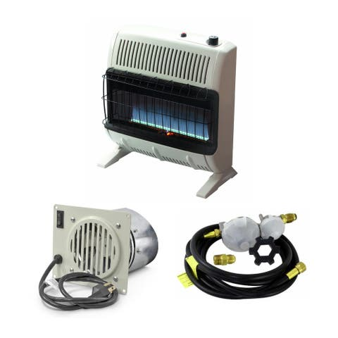 Mr. Heater 30K BTU Blue Flame Vent Free Heater with Blower and Hose