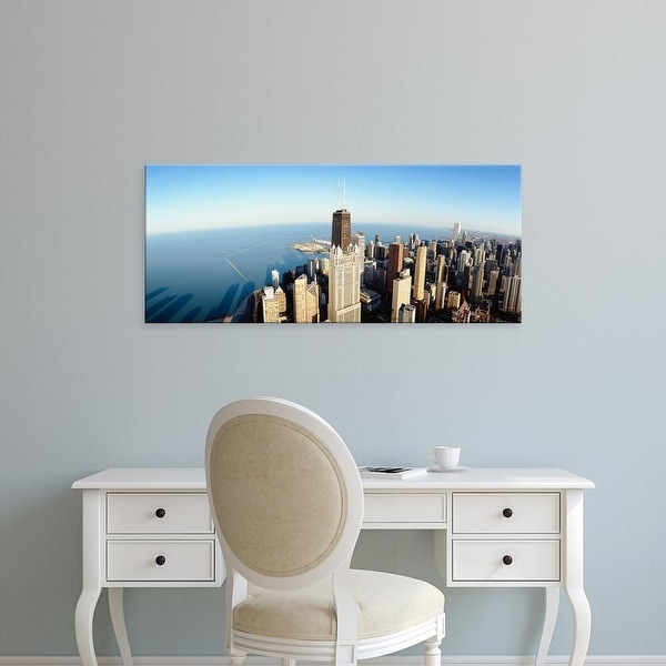 Easy Art Prints Panoramic Images's 'High angle view of skyscrapers in a city, Chicago, Illinois, USA' Canvas Art