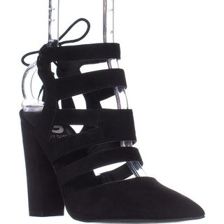 G by GUESS Galway Strappy Dress Heels, Black