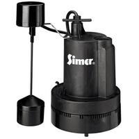 Simer 2164/2957 Submersible Thermoplastic Sump Pump, 1/3 HP