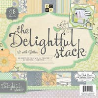 "Dcwv Single-Sided Paper Stack 12""X12"" 48/Pkg-Delightful, 24 Designs/2 Each"