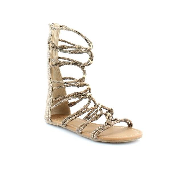 XOXO Gizella Women's Sandals & Flip Flops Tan Snake