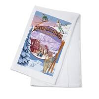 Steamboat Springs, Colorado - Montage - LP Artwork (100% Cotton Towel Absorbent)