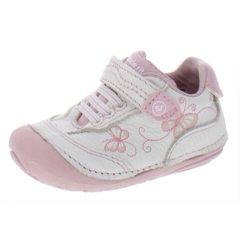 Stride Rite Bambi Casual Shoes Leather Walker - White/Pink - 3 Medium (B,M) Infant