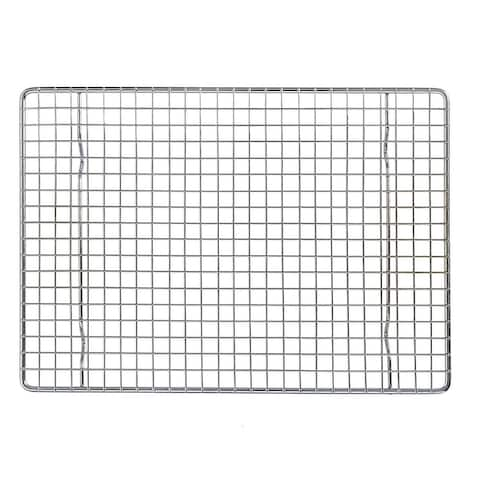 "Mrs Anderson's Baking Quarter Sheet Cooling Rack - 8.5"" x 12"" - Cool Cookies, Bread, Cakes - Silver"