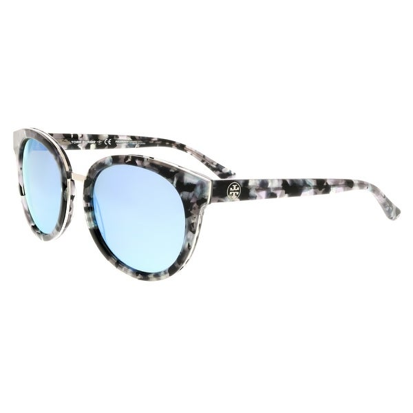 a98bae60824e Tory Burch TY7062 168522 Black Pearl Tort Cateye Sunglasses - 53-18-140
