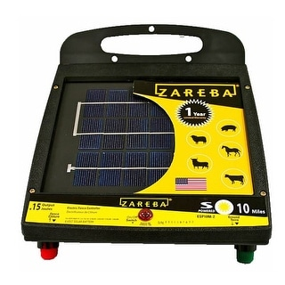 Zareba ESP10M-Z 10 Mile Solar Low Impedance Fence Charger, 10 Mile