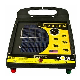Zareba ESP10M-Z 10 Mile Solar Low Impedance Fence Charger, 10 Mile
