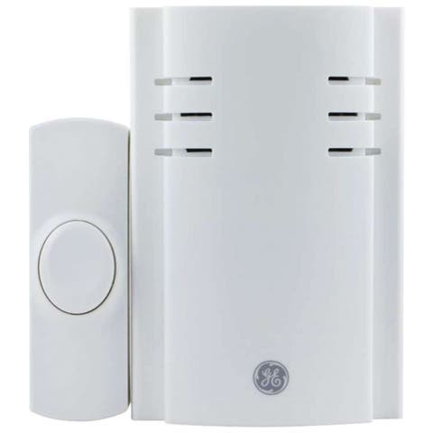GE 19298 Push-Button Plug-In Door Chime with 2 Melodies - White