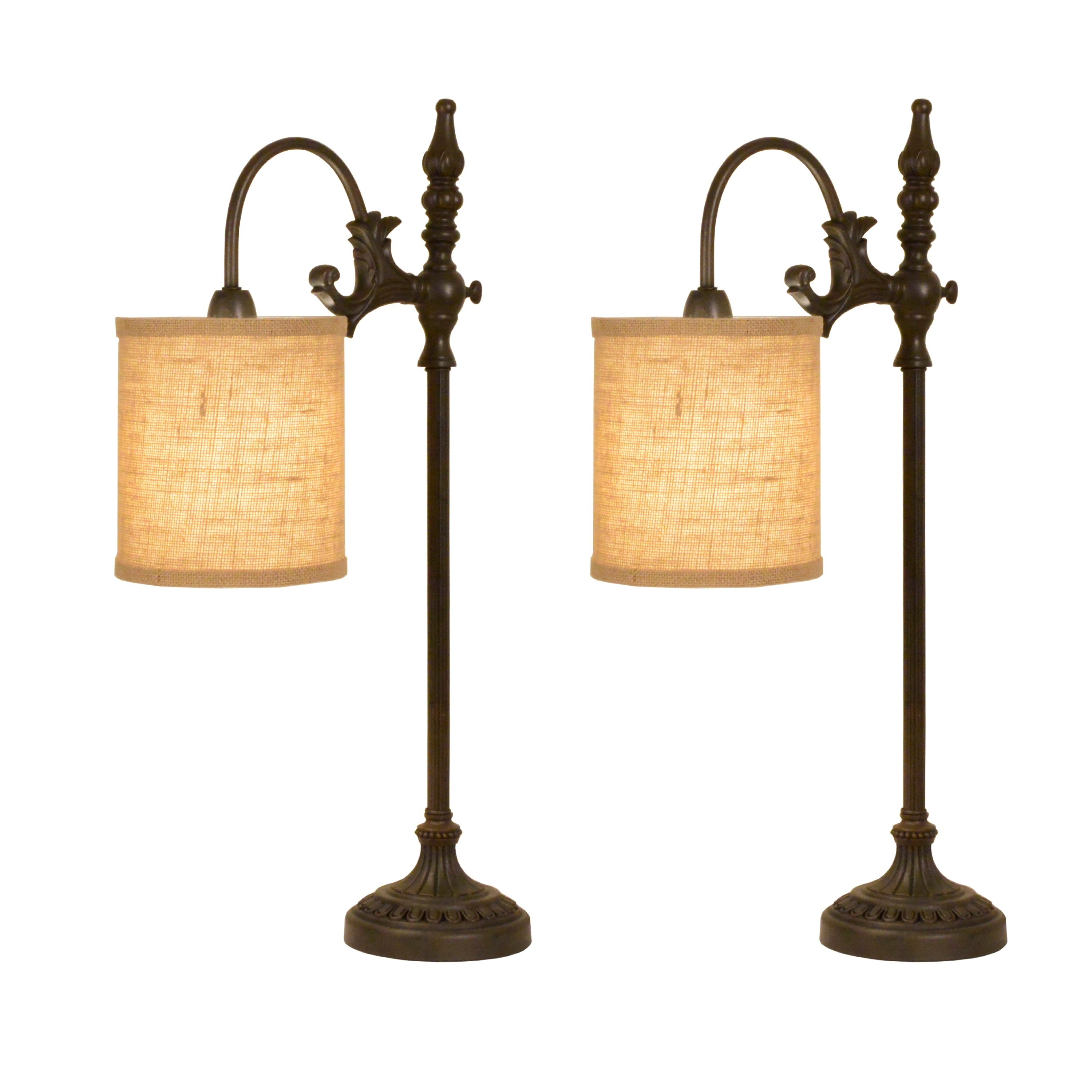 Lowell Arched Table Lamp Set Of 2 Overstock 31688144 Weathered White