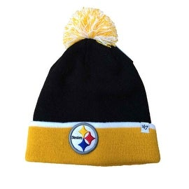 Pittsburgh Steelers Black Yellow Baraka Cuffed Beanie