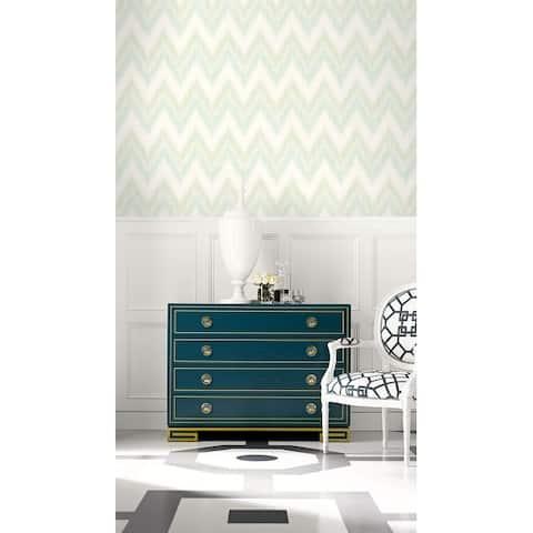Seabrook Designs Lillian August Regent Flamestitch Stringcloth Unpasted Wallpaper