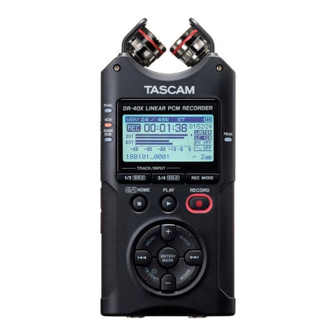 Tascam DR-40X Four-Track Audio Recorder/USB Audio Interface - Black