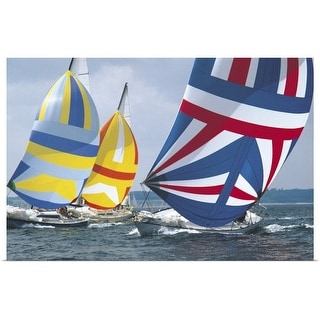 """sailing race"" Poster Print"