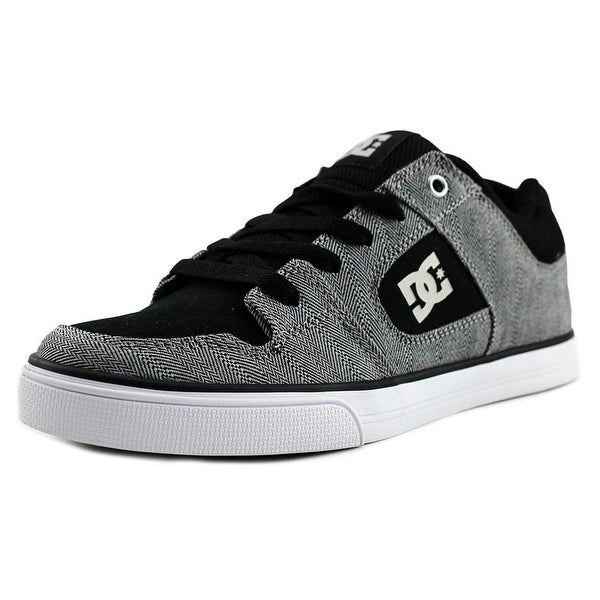 DC Shoes Pure TX SE Youth Round Toe Canvas Black Skate Shoe
