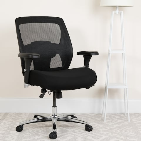 24/7 Intensive Use Big & Tall 500 lb. Rated Black Mesh Ergonomic Office Chair