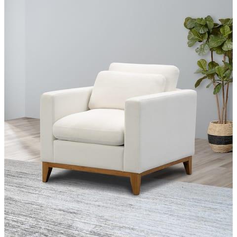 Abbyson Rosetta Modern Fabric Armchair