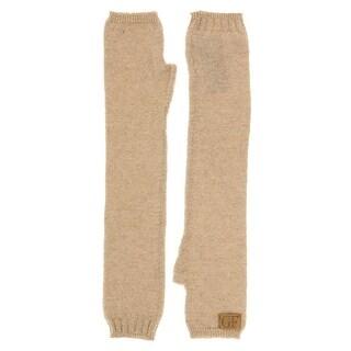 Gianfranco Ferre GUA01039 Wool Blend Shimmery Knitted Long Gloves