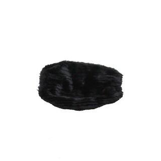 Steve Madden Black Faux-Fur Groove Beaver Arm Cover OS