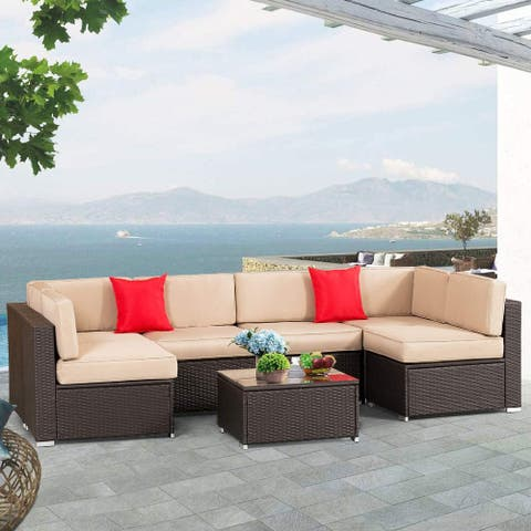 Outdoor Furniture 7-Piece Wicker Sofa Set by Havenside Home
