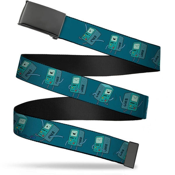 Blank Black Buckle Bmo Poses Turquoise Webbing Web Belt