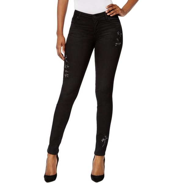 Kut From The Kloth Womens Diana Skinny Jeans Embroidered Mid-Rise