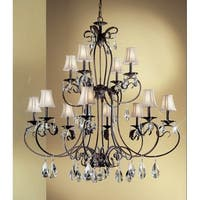 """Classic Lighting 68319-EB 48"""" Crystal Chandelier from the Manilla II Collection"""