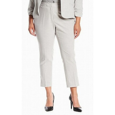 Amanda + Chelsea Gray Women's 14W Plus Ankle Dress Pants Stretch