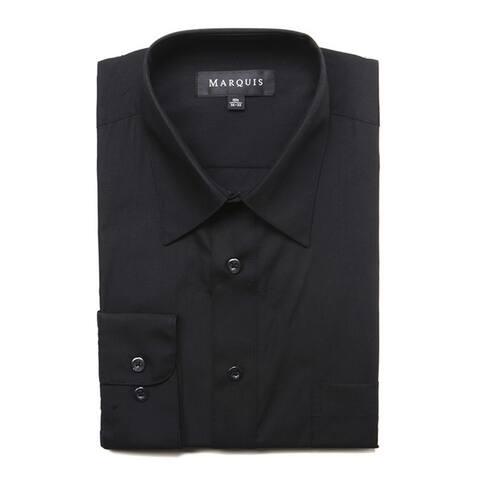 Marquis Men's Long Sleeve Regular Fit Big & Tall Size Dress Shirt