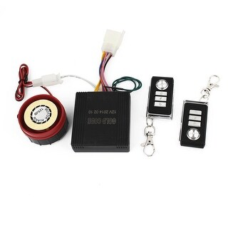 Unique BargainsMotorbike Rectangle Remote Controller Anti-theft Security Alarm System 4 in 1