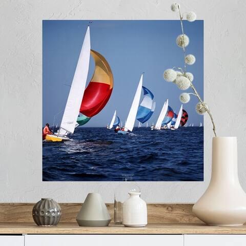 """""""sailing boats"""" Poster Print"""