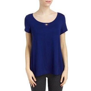 French Dressing Sleepwear Women's Serenity Short Sleeve Blue Pajama Top (3 options available)