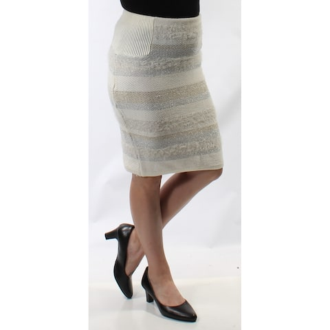 KIIND OF Womens Silver Above The Knee Pencil Skirt Size: S