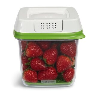 Rubbermaid FreshWorks Produce Saver Food Storage Container, Medium, 6.3 Cups - Green - N/A