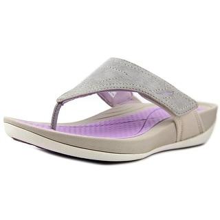 Dansko Katy 2 Women Open Toe Suede Gray Thong Sandal