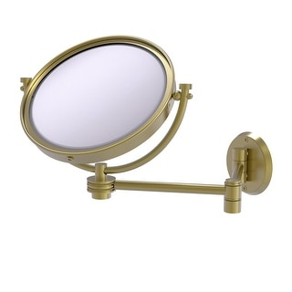 Allied Brass 8-in Wall Mounted Extending Make-Up Mirror 5X Magnification with Dotted Accent
