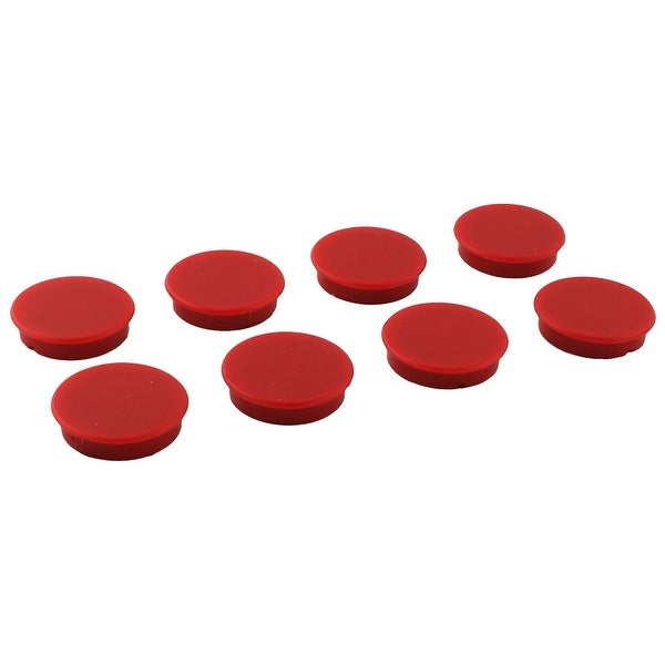 Office Plastic Shell Decoration Refrigerator Magnetic Sticker Red 8pcs