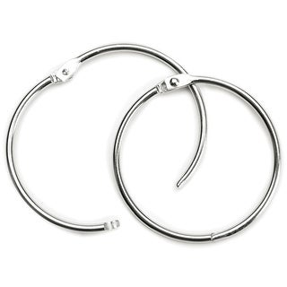 "Book Ring 3"" 1/Pkg-Silver"