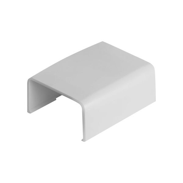 """Wire Trak Joint Cover for Raceway PVC White, 1"""" W x 1/2"""" H"""