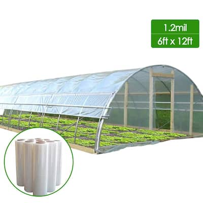 Agfabric Greenhouse Film 1.2Mil Plastic Covering Clear Polyethylene