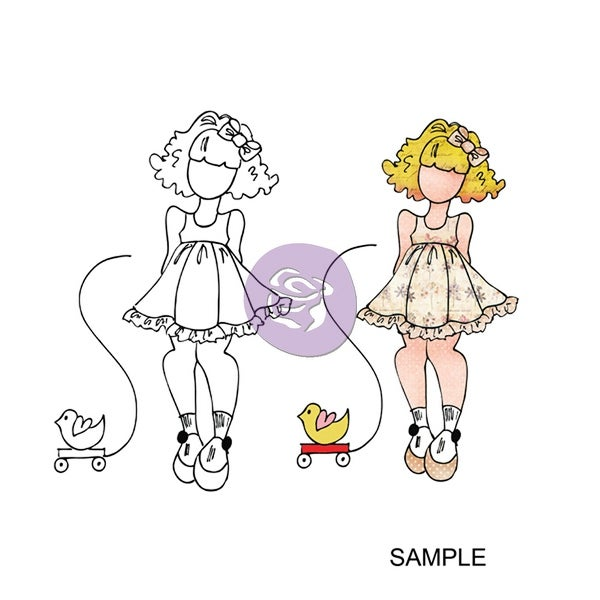 """Julie Nutting Mixed Media Cling Rubber Stamps-Little Girl 3.5""""X8"""""""
