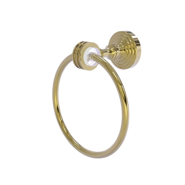 Allied Brass Pacific Grove Collection Towel Ring with Dotted Accents