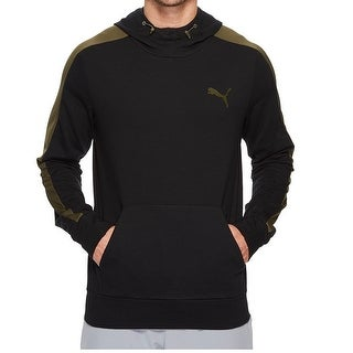 Puma NEW Black Mens Size 2XL Pull Over Hooded Colorblocked Sweater