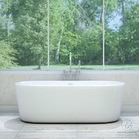 Pelham & White Luxury 67 Inch Modern Freestanding Tub with Chrome Drain