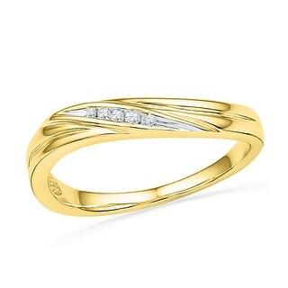 0.02Ctw Diamond Fashion Ring Yellow-Gold 10K