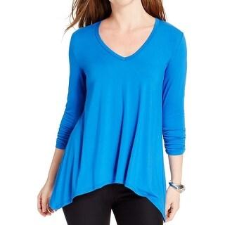 Karen Kane Womens Pullover Top Asymmetric Ruched