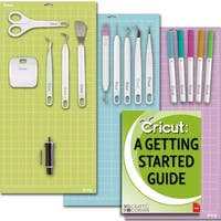 Cricut Tools Bundle-Mats Weeding Tools Pens Cutting Blade & Basic Tools Guide