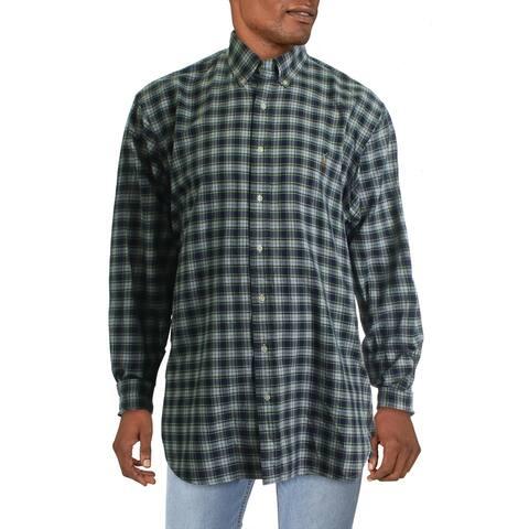 Ralph Lauren Mens Big & Tall Casual Shirt Oxford Plaid - Multi