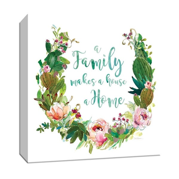 "PTM Images 9-147560 PTM Canvas Collection 12"" x 12"" - ""Succulent Wreath Family"" Giclee Sayings & Quotes Art Print on Canvas"